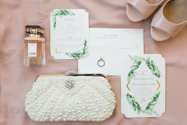 shoes by Chinese Laundry and invitations and paper goods by Minted