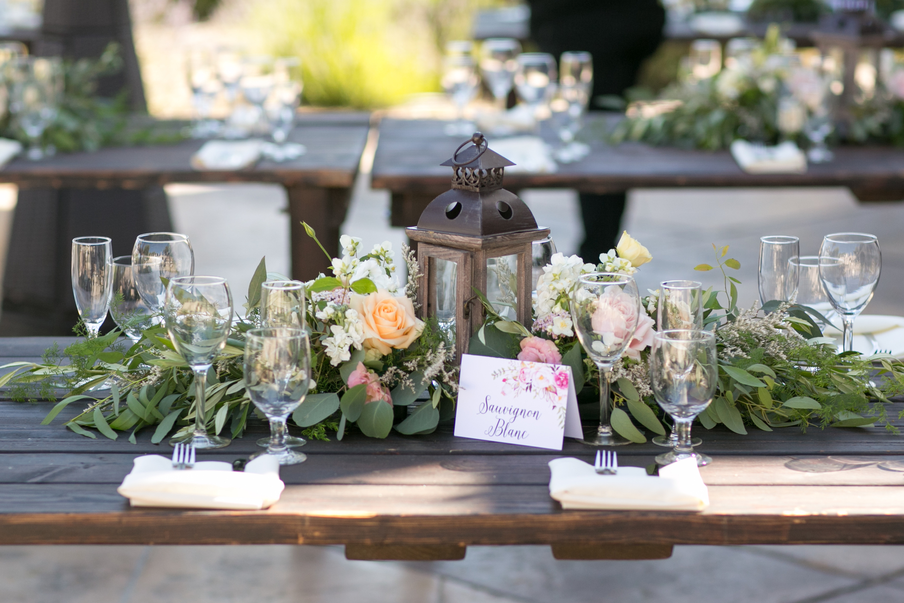 Croad Vineyard Wedding Flowers By Denise Centerpiece Long Table Flowers By Denise
